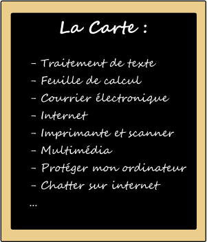 "Formation informatique à domicile ""A la carte"" Click and Go ! Informatique"